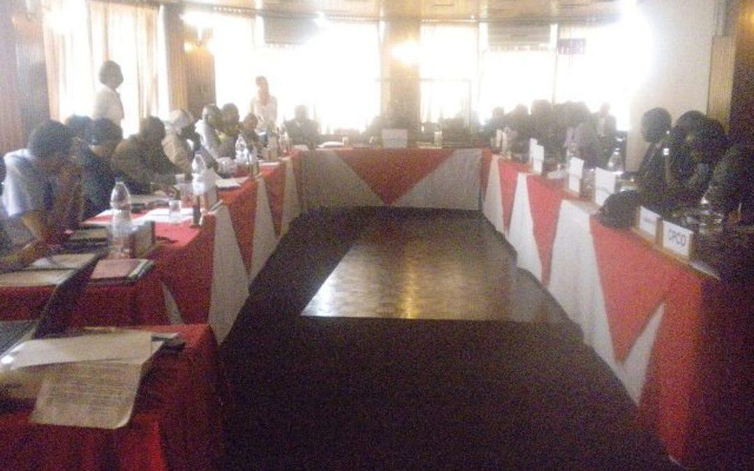 Gros Plan de la reunion de Infopeche sept 2010, Abidjan - Cote d'Ivoire