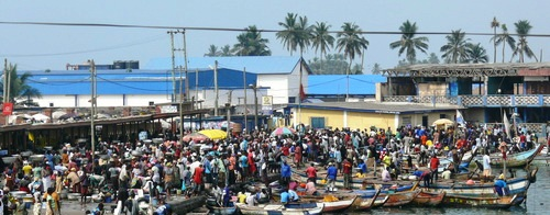 Fisherfolks at Elmina