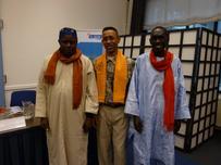 les 3 pêcheurs Africains ayant pris part à la réunion du Pays-Bas