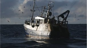 Morocco bans EU fishing vessels Aimid western Sahara row.