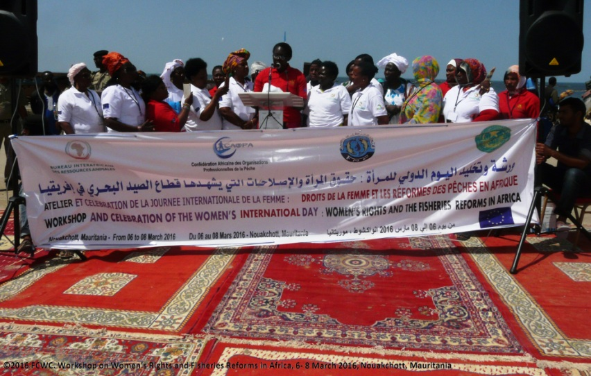 Group photo - MAURITANIA: African women in fisheries celebrate International Women's Day