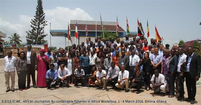 Workshop on African Journalists for sustainable fisheries in Africa from 1st to 4th March 2016