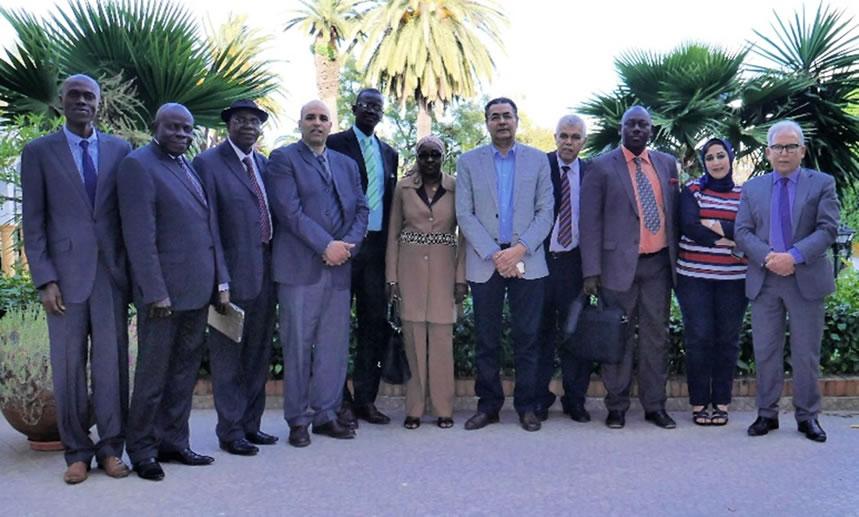 Photo de groupe de la signature de financement d'une convention CPCO-COMHAFAT de 20.000 dollars