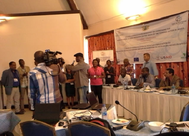 Pohot: Mise en place une plateforme de journalistes au sein de l'Observatoire des médias pour une pêche durable en Afrique (OMPDA), 3 mars 2016, Elmina, Ghana