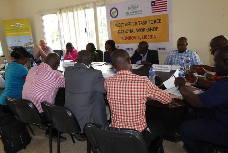 Overview of participants during the West Africa Task Force national workshop, 21 July 2016, Monrovia, Liberia