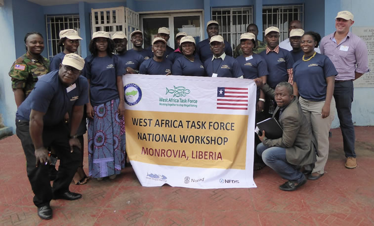 Group picture at the West Africa Task Force national workshop, 21 July 2016, Monrovia, Liberia