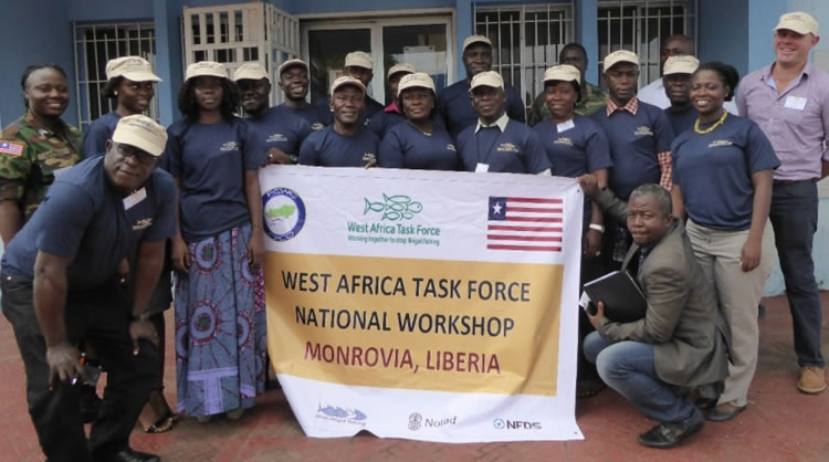 Group photo of Liberia notional working group july 2016