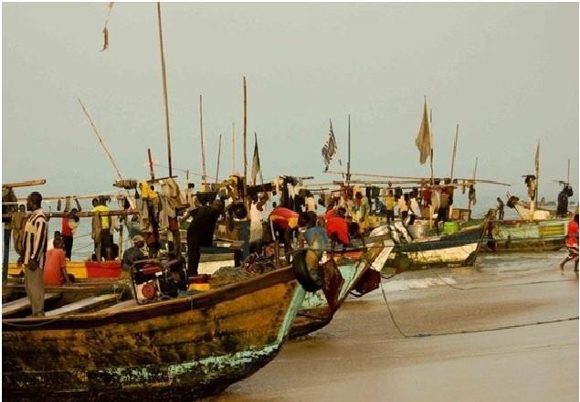 ghana Anchovy boats