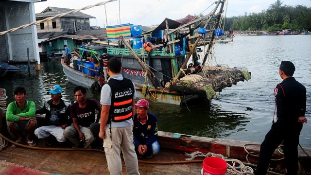 fishermen and officers