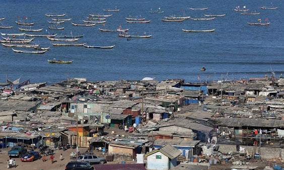 Ghana James town view