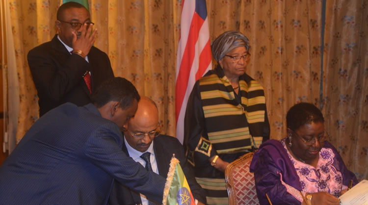 Liberia and Ethiopia signed an MoU covering livestock, fisheries and health