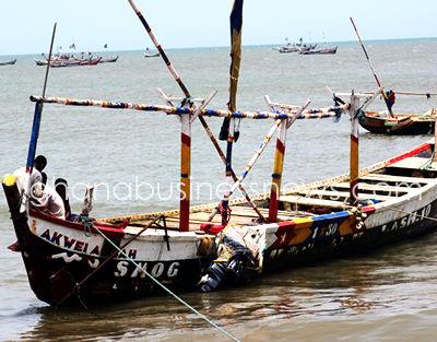 ghana fishing canoe