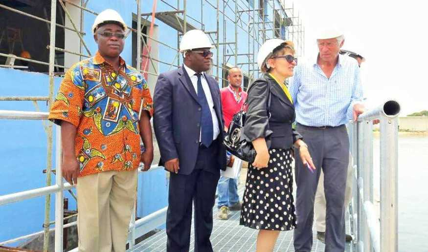 Field visit of Liberia's Bureau of National Fisheries new office under construction by WARFP