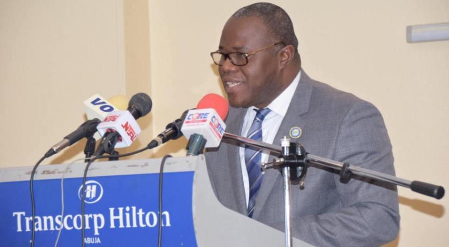 M. Séraphin Dédi Nadjè, S. G. du CPCO, donnant son discours à la 10e Conférence des Ministres en Déc. 2017 - Copyright: Secrétariat CPCO