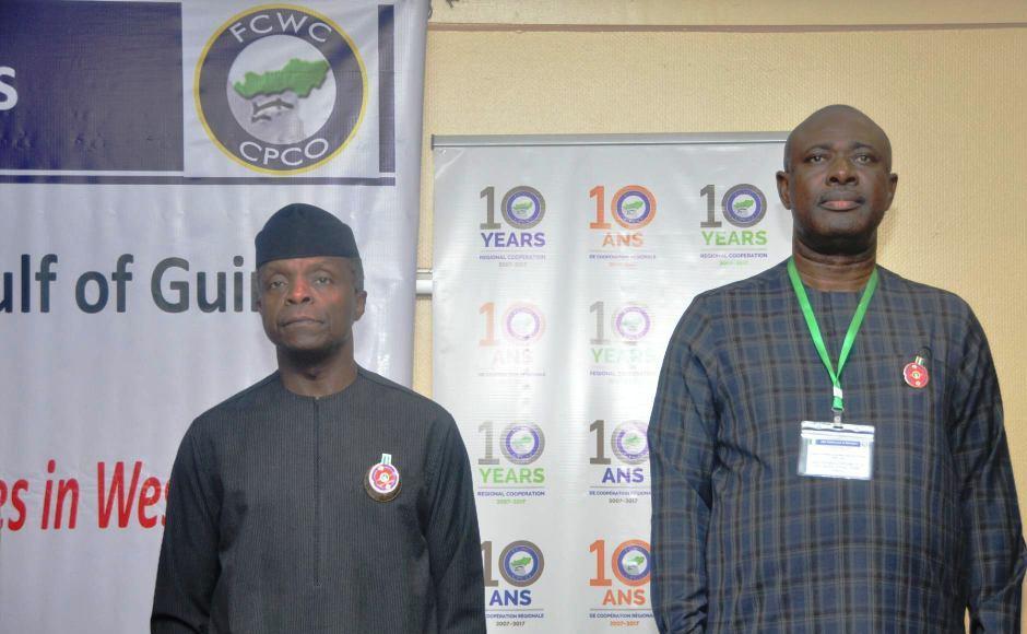Nigéria - Vice Président ,Yemi Osinbajo et le Ministre d'Etat en charge de la pêche
