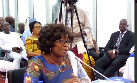 Ghana's fisheries Minister, Elizabeth Afoley