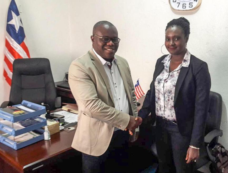 Welcome Meeting with Ms Glassco Emma, DG of the NaFAA - Liberia