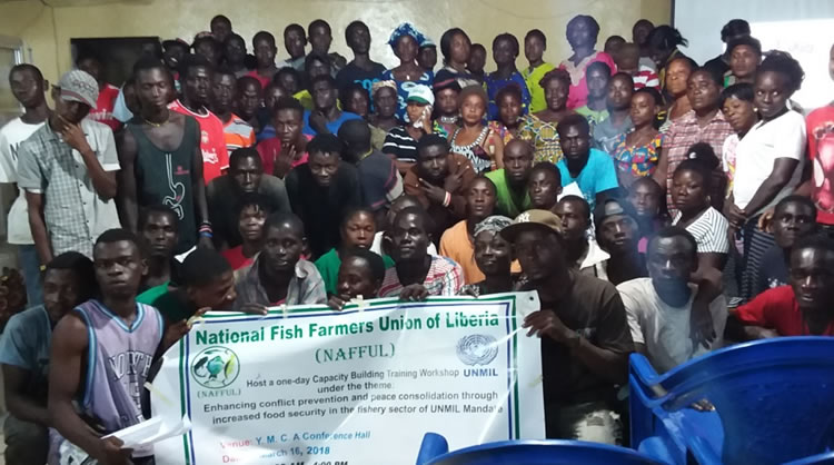 Group photo - National Fish Farmers Union of Liberia