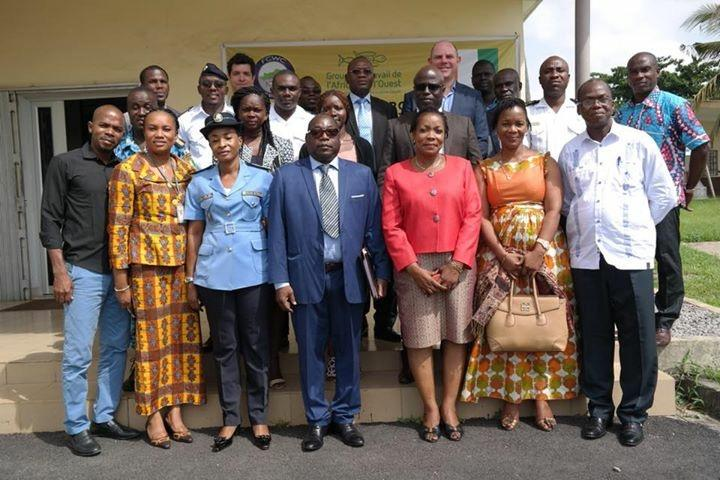 Group photo of West Africa Task Force Meeting on Inter-Agency Cooperation Completed in Abidjan
