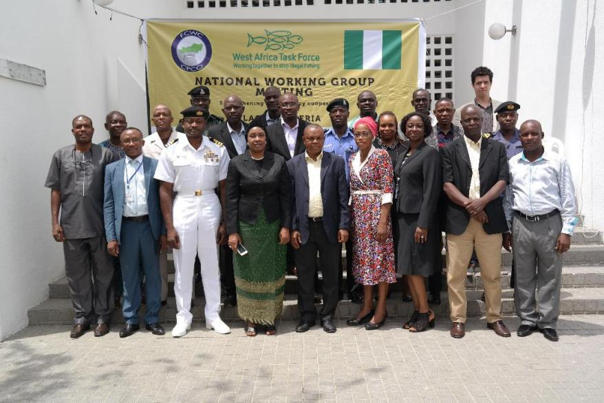 Group photo of the National Working Group of WATF - Nigeria's Fight Against Illegal Fishing Improves Through Inter-Agency Cooperation