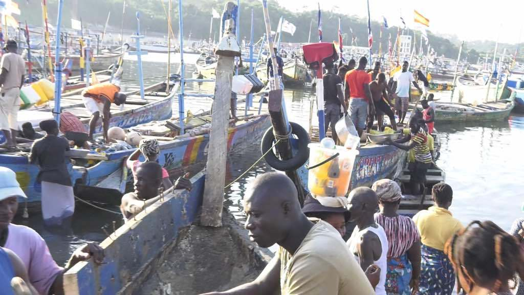 Ghana - Some fishermen from Shama and Sekondi had started leaving Ghana to avoid the Closed-season fishing