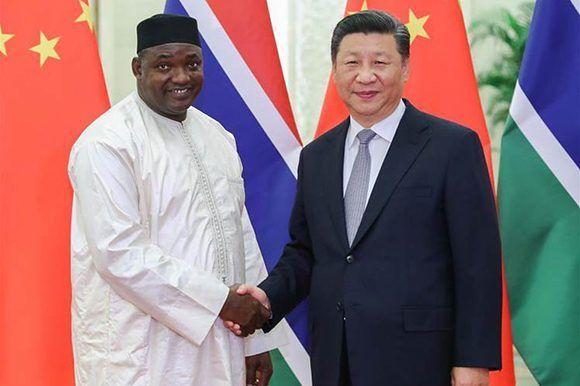 Gambia - Adama Barrow & Xi Jingpin