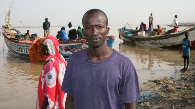 Mor Ndiaye is worried about how he will survive because of depleting fish stocks - Senegal