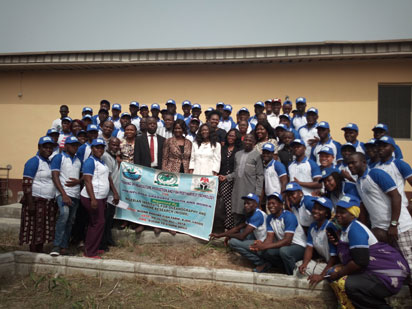 Participants at the training on aquaculture organised by Nigerian Institute of Oceanography and Marina Research, NIOMR, Badore, Lagos