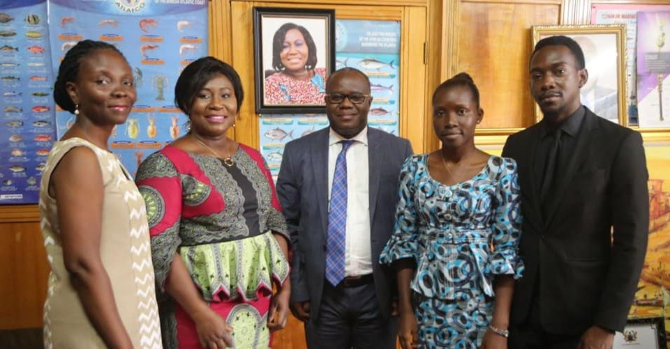 Group photo - FCWC Secretariat Team makes courtesy call on Ghana's Minister for Fisheries
