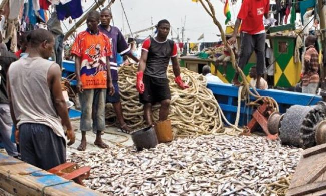 ghana fishing scene