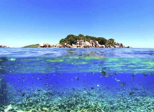 illustration - Seyshelles blue sea