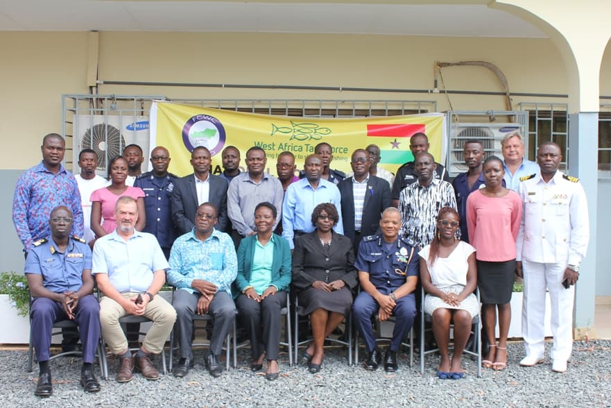 Group photo of Ghana National Working Group Meeting to Improve Interagency MCS on 12th and 13th May 2019