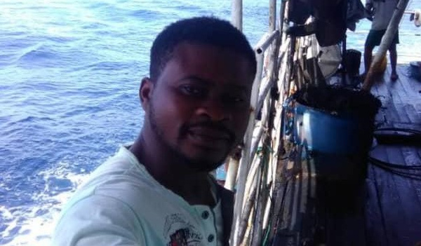 Ghana : picture of ghanain fishing observer, Emmanuel Essien, from Chinese Vessel