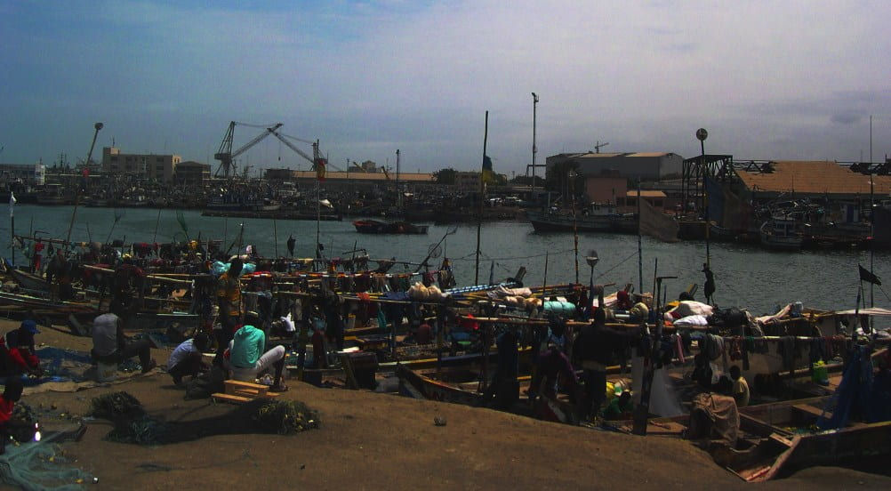 Ghana artisanal fishing harbour in Tema