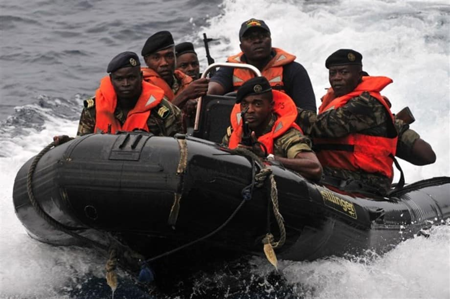 Militaries in a patrol baot - Uhuru Kenyatta-led Kenya has made tremendous achievements in the last 10 years in fighting and dealing piracy in its maritime domain. Image Credit: US AFRICOM