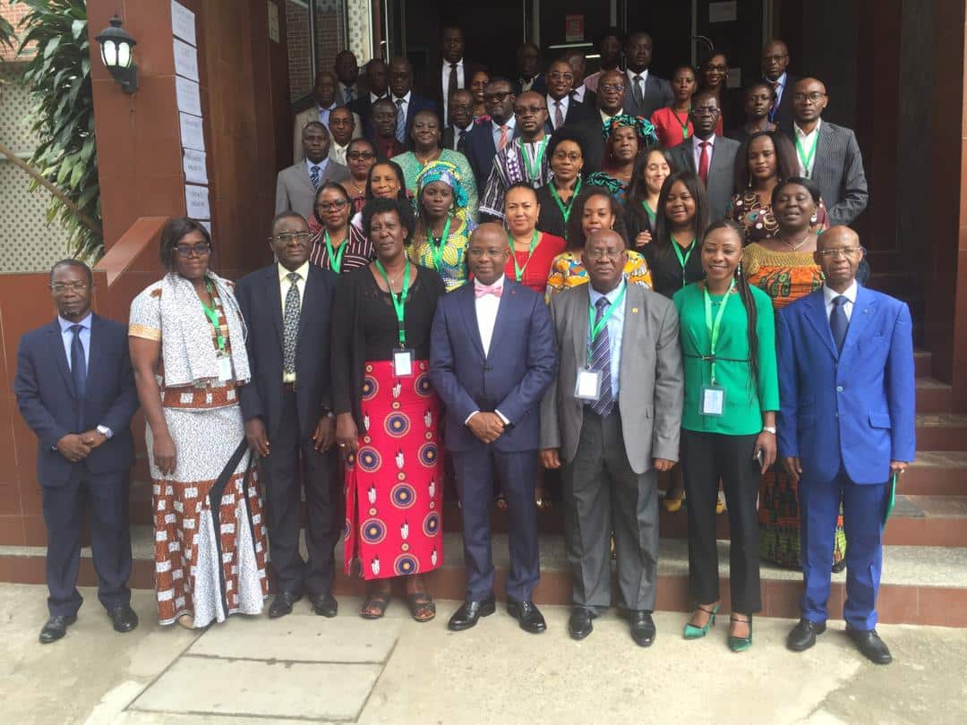 Group photo: African Women Fish Processors and Traders Network Meeting in Côte d'Ivoire - credit FCWC secretariat