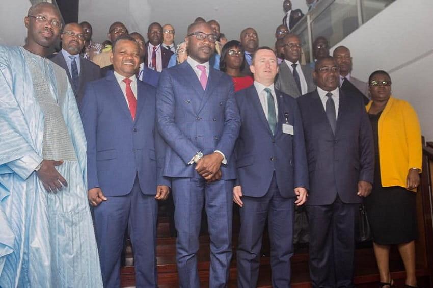 Gabon, Photo de famille à la fin des trvaux du COPACE