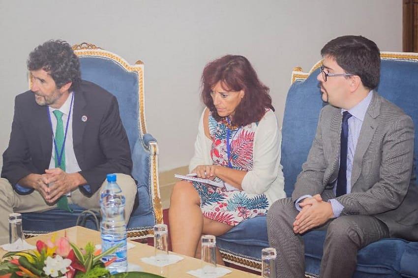 Gabon: La délégation espagnole chez le Ministre de la pêche, Biendi Maganga Moussavou