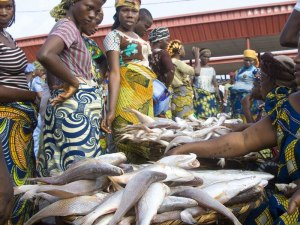 Nigeria & women fish line