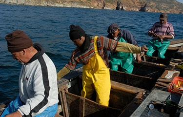 South Africa men fishing in boat - Photo courtesy of Brand South Africa