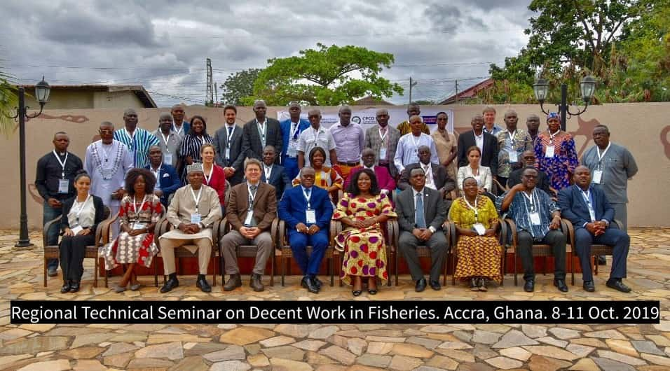 Ghana: Group photo of regional technical seminar on Decent Work in Fisheries