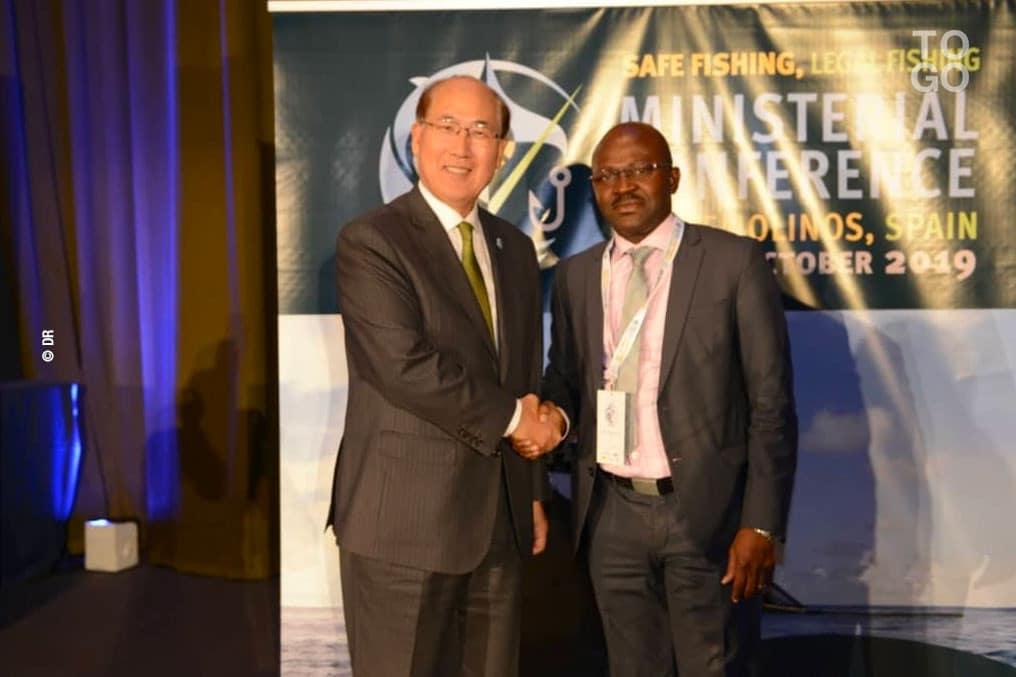 Toto - Kitack Lim, secrétaire général de l'OMI et Hubert Bakaï