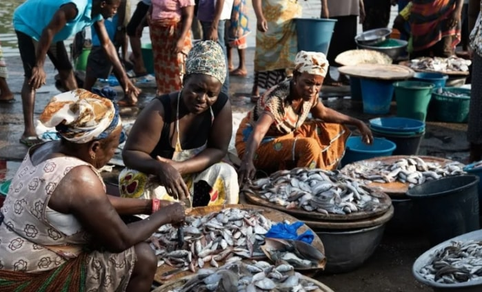 Women in fishing communities in the Central Region of Ghana. Photo credit: Environmental Justice Foundation