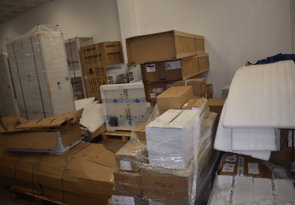 Laboratory Equipment from Iceland packed in the Competent lap at the Mesurado Pier NaFAA's Technical Building Coast Guard Base Bushrod Island