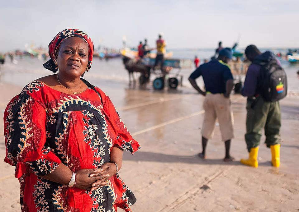 Fatou Samba, the president of of female fish processors from Khelcom. © Clément Tardif / Greenpeace
