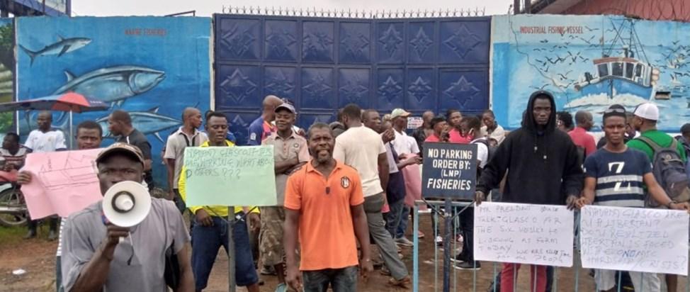 Liberia NaFAA Protesters