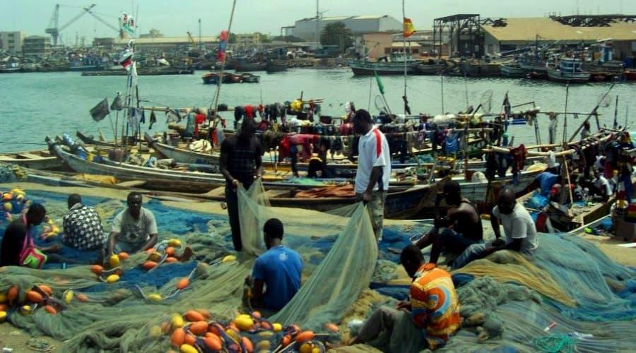 Ghana Tema artisanal fishing