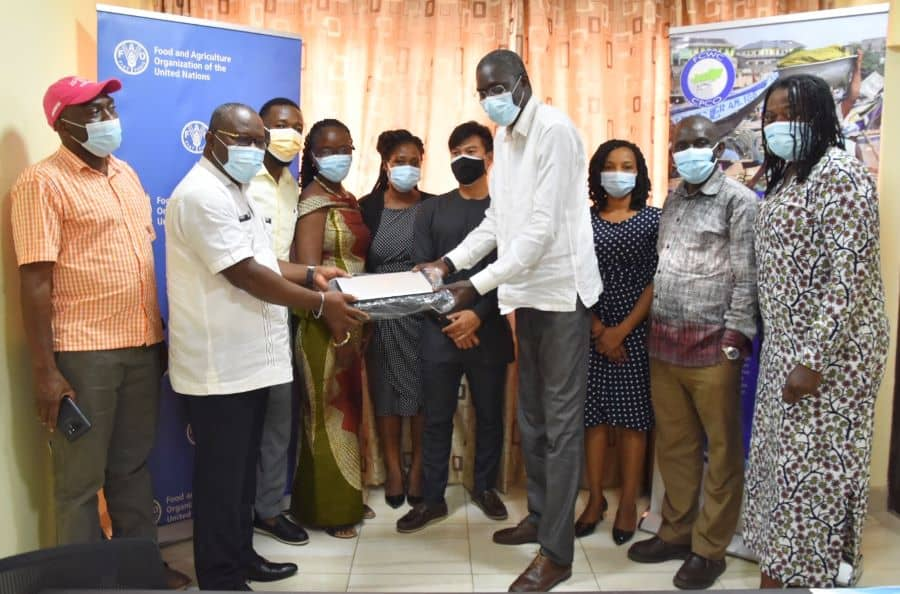 Group photo - FCWC received equipment from FAO