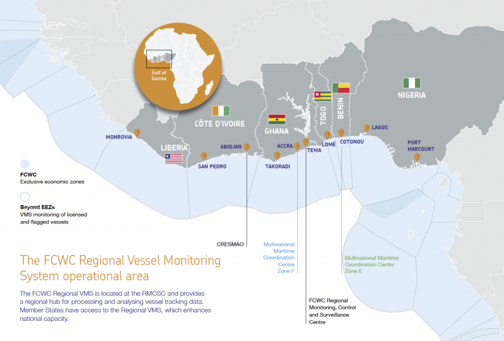FCWC Gulf of Guinea Countries' Map